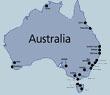 GPS карта Австралии